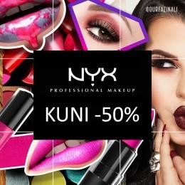 NYX Cosmetics kuni -50%