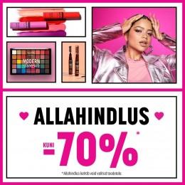 NYX Cosmetics allahindlus kuni -70%