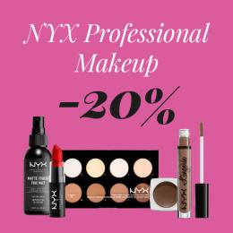 NYX Cosmetics -20%
