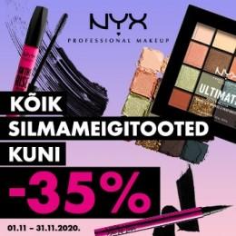 NYX Cosmetics silmameigitooted -35%