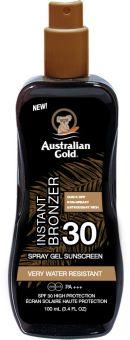 Australian Gold SPF 30 Spray Gel with Bronzer (100mL)