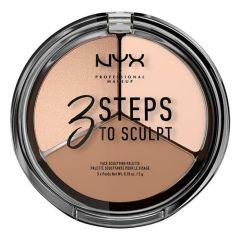 NYX Professional Makeup 3 Steps to Sculpt Face Sculpting Palette (5g)