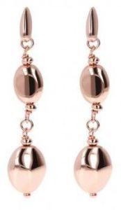 Bronzallure Shiny Nugget Pendant Earrings