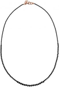 Bronzallure Necklace With Black Spinel