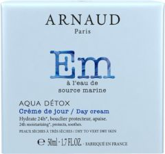 Arnaud Paris Aqua Detox 24h Moisturizing Day Cream for Dry and Sensitive Skin (50mL)