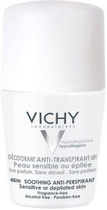 Vichy 48h Roll-on Deodorant (50mL) Sensitive, depilated skin