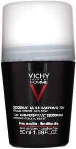Vichy Homme Sensitive 72h Roll-on Deodorant