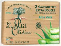 Le Petit Olivier 2 Extra Mild Soap Bars Aloe Vera (2x100g)