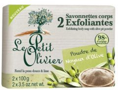 Le Petit Olivier 2 Exfoliating Body Soap with Olive Pit Powder (2x100g)