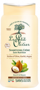 Le Petit Olivier Cream Shampoo Nutrition for Dry and Damaged Hair Olive Shea Argan Oils (250mL)