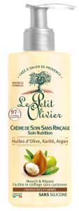 Le Petit Olivier No Rinse Hair Cream Nutrition Dry and Damaged Hair Olive, Shea, Argan Oils (200mL)