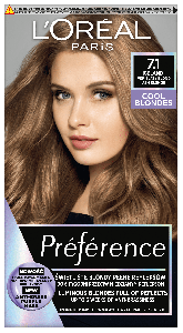L'Oreal Paris Preference Cool Blondes Permanent Hair Color 7.1 Iceland