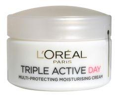 L'Oreal Paris Triple Active Multi-protection Moisturiser Day Cream (50mL) Dry and sensitive skin
