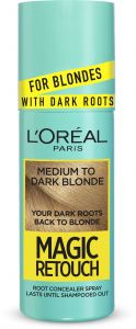 L'Oreal Paris Magic Retouch Dark Root Concealer Spray (75mL) Medium To Dark Blonde