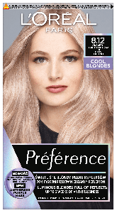 L'Oreal Paris Preference Cool Blondes Permanent Hair Color 8.12 Alaska