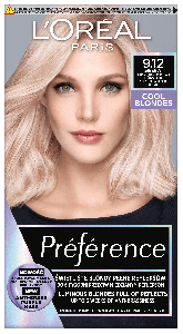 L'Oreal Paris Preference Cool Blondes Permanent Hair Color 9.12 Siberia