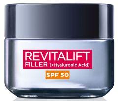 L'Oreal Paris Revitalift Filler Intense Replumping Anti-Ageing Cream SPF50 (50mL)