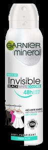 Garnier Mineral Invisible Black White Colors Fresh Spray Deodorant (150mL)