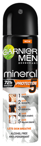 Garnier Men Mineral Protection 5 Spray Deodorant (150mL)
