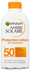 Garnier Ambre Solaire Moisturizing Protection Lotion 24h Hydration SPF50 (200mL)