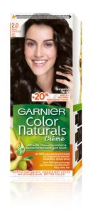 Garnier Color Naturals Permanent Hair Color 2.0 Soft Black