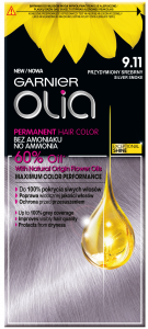 Garnier Olia No Ammonia Oil-based Permanent Hair Color 9.11 Silver Smoke