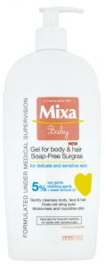 Mixa Baby Soapfree 2in1 Mild Shampoo And Cleansing Gel For Hair And Body (400mL)