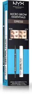 NYX Professional Makeup Micro Brow Essentials Espresso