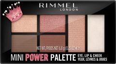 Rimmel London Mini Power Palette Lip, Cheek & Eye (6,8g) 003 Queen