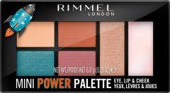 Rimmel London Mini Power Palette Lip, Cheek & Eye (6,8g) 004 Pioneer