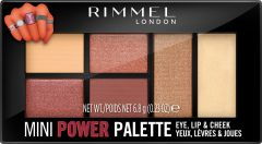 Rimmel London Mini Power Palette Lip, Cheek & Eye (6,8g) 006 Fierce