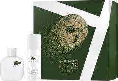Lacoste Eau De Lacoste L.12.12 Blanc EDT (50mL) + Deospray (150mL)
