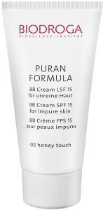 Biodroga Puran Formula BB Cream SPF15 Impure Skin (40ml) 02 Honey Touch