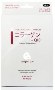 Mitomo Essence Mask with Collagen and Q10 (10pcs)