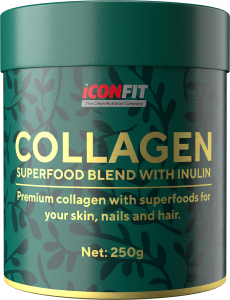 ICONFIT Collagen Superfoods (250g) Berries & Inulin Gooseberry, Blackcurrant