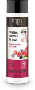 Organic Shop Vitamin Recharge Bath Foam Berry Delight Cosmos Natural (Bdih) (500mL)