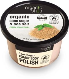 Organic Shop Foamy Body Polish Cane Sugar Cosmos Natural (Bdih) (250mL)