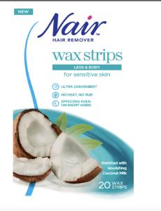 Nair Wax Stripes for Sensitive Skin Coconut (20pcs)