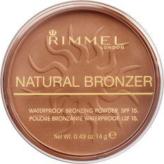 Rimmel London Natural Bronzer Waterproof Bronzing Powder SPF15 (14g) 022 Sun Bronze