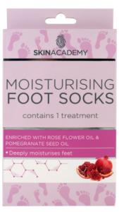 Skin Academy Moisturising Foot Socks Rose Flower Oil & Pomegranate Seed Oil (1pair)