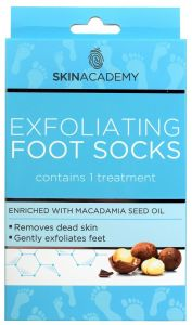 Skin Academy Exfoliating Foot Socks Macadamia Nut (1pair)