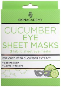 Skin Academy Eye Sheet Mask Cucumber (3pcs)