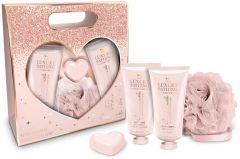The Luxury Bathing Company Gift Set Creme Brulee & Orange Heart