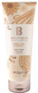 Boutique Vegan Body Scrub Amber, Musk & Vanilla (225g)