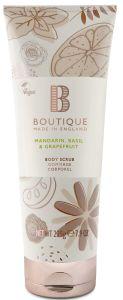 Boutique Vegan Body Scrub Mandarin, Basilik & Grapefruit (225g)