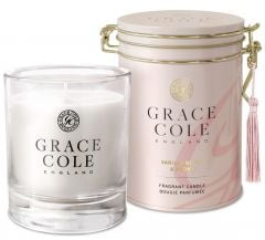 Grace Cole Luxury Scented Candle In Decorative Tin Vanilla Blush & Peony (200g)
