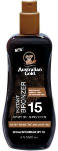 Australian Gold SPF 15 Spray Gel with Bronzer (100mL)
