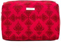 JJDK Cosmetic Bag Peonia Fuchsia w/Baroque Print Nylon (25x16x14,5) 61307