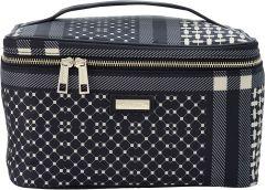 JJDK Cosmetic Beauty Box Jutlandia Black & Beige Nylon (26x15x18) 61329