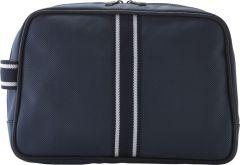 JJDK Cosmetic Bag Carbriolet Navy w/white ribbon Nylon (32x23x9) 61407